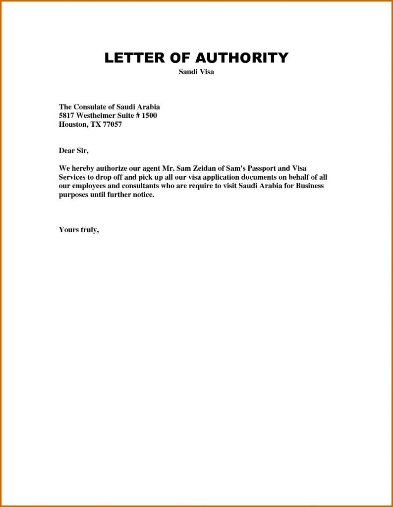 Authorization Letter Template | Garden In 2019 | Letter Templates