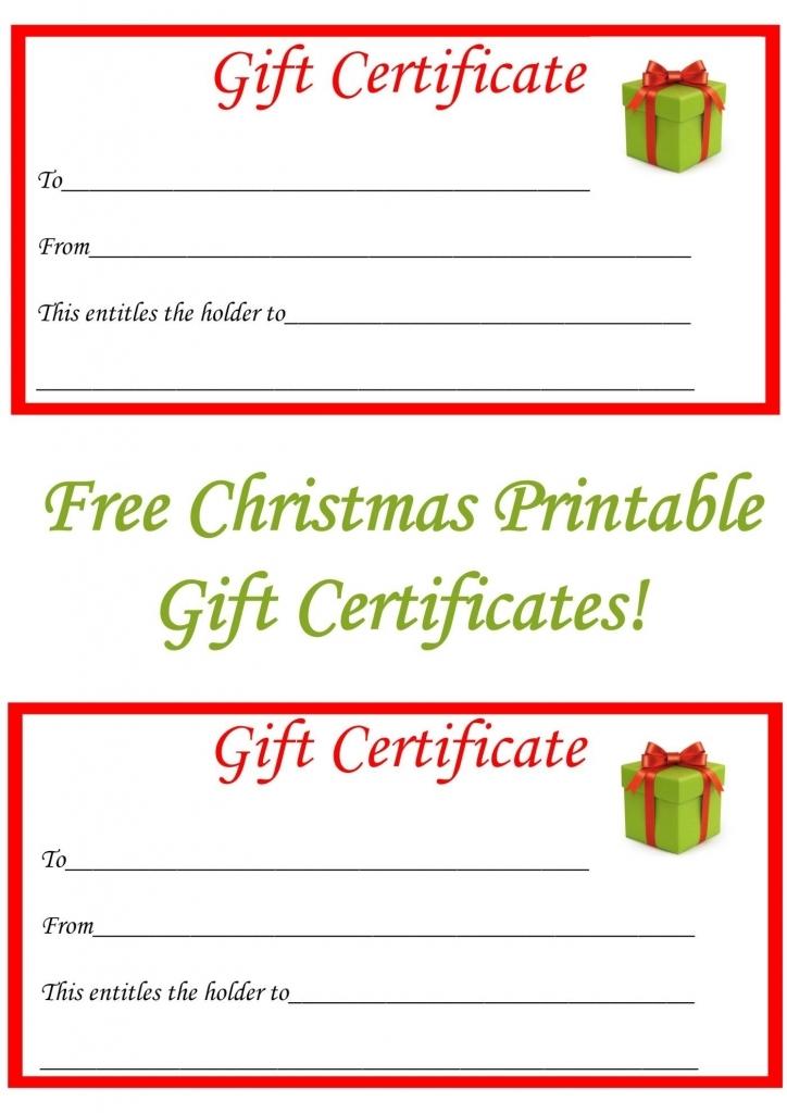 Free Christmas Printable Gift Certificates | Misc | Free Christmas