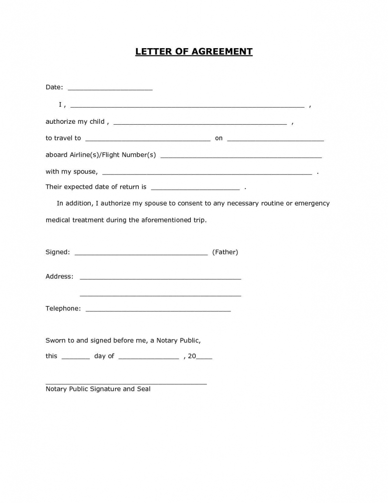 Letter Template For Permission Best Of 6 Child Travel Consent Letter